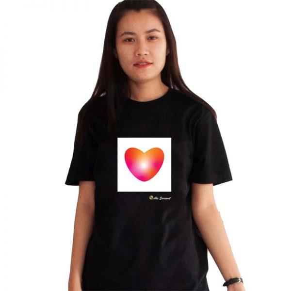 เสื้อยิดสีดำ-Lightenheart