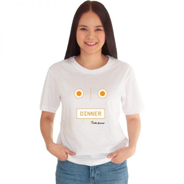 เสื้อยืดสีขาว-Dinner