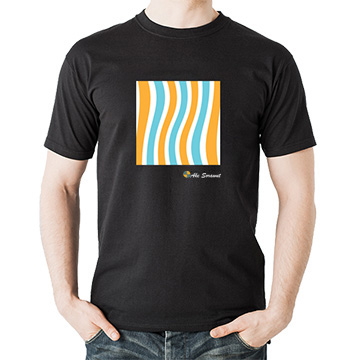 เสื้อยืดสีดำ-fancy-striped