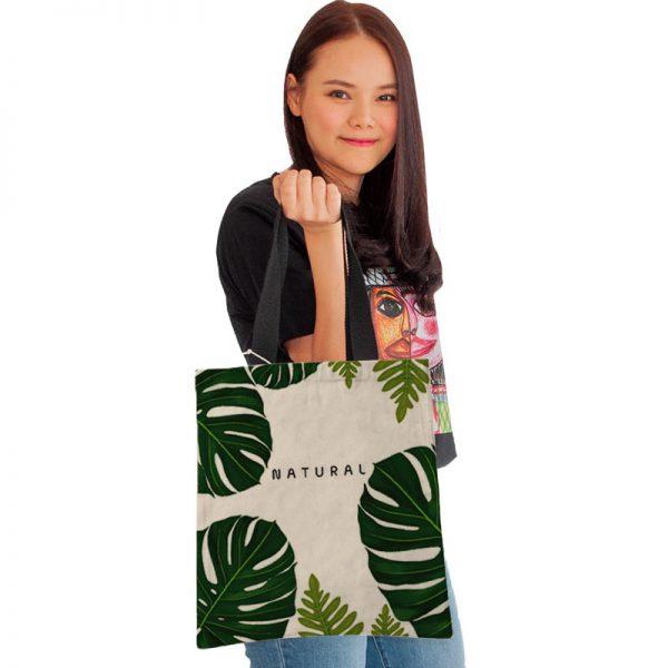 กระเป๋าผ้าพิมพ์ลาย-ใบไม้-manah-12t