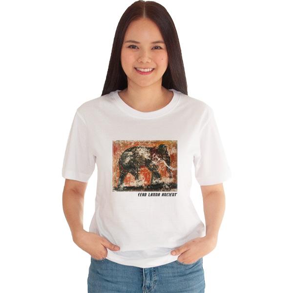 เสื้อยืดขาวพิมพ์ลาย-ความสง่างามของช้าง-อี๊ดเมืองน่าน