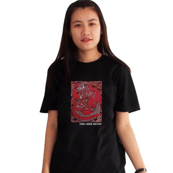 เสื้อยืดดำพิมพ์ลาย-มัจฉานิรันดร์-อี๊ดเมืองน่าน