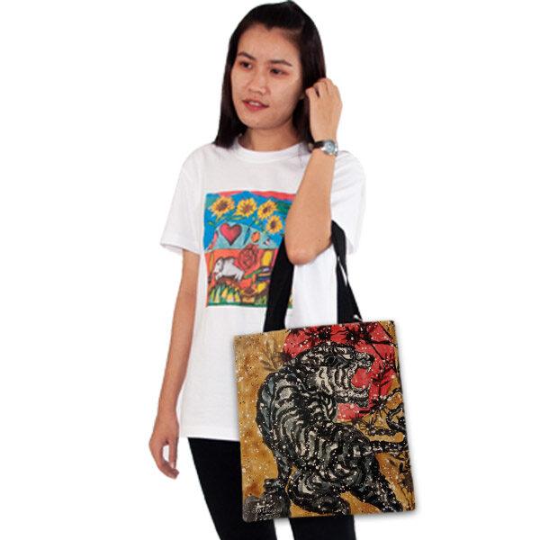 กระเป๋าผ้า-เสือคำราม-อี๊ดเมืองน่าน